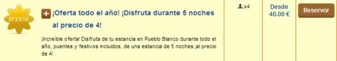 Oferta Pueblo Blanco