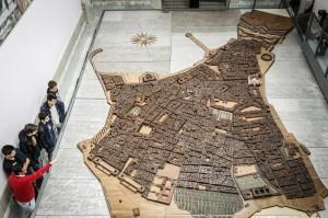 Maqueta de la ciudad de Cádiz en el siglo XVIII. Imagen del Ayuntamiento de Cádiz