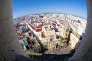 Cádiz desde la Catedral. Imagen del Ayuntamiento de Cádiz