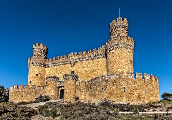 Castillo de Manzanares del Real o De los Mendoza. Esta imagen tiene Licencia CC en el Flickr de e.villanuevamartín