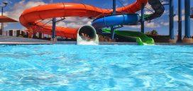parque acuático piscina refrescante agua diversion